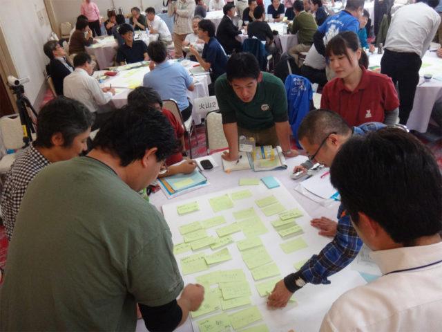 ジオパークの活動は、大地の営みが作った景観や人の暮らしを伝える中で、大地の恵みと災いをどう伝えるかを常に考えています(2014年10月31日JGN全国研修会「ジオパークと自然災害」から)